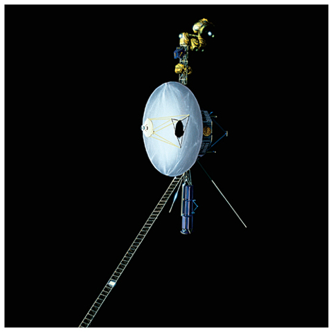 Photograph of Voyager I space probe