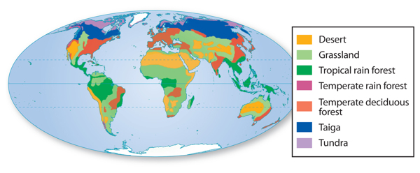 Figure 1 Earth Contains Seven Major Biomes.